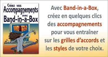 Créez vos Accompagnements avec Band-in-a-Box