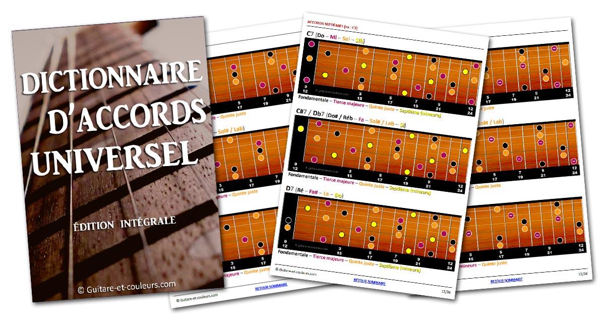 Dictionnaire d'accords de guitare universel (édition intégrale) – Format PDF