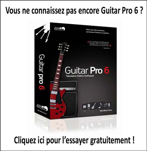 Essayez Guitar Pro 6 gratuitement